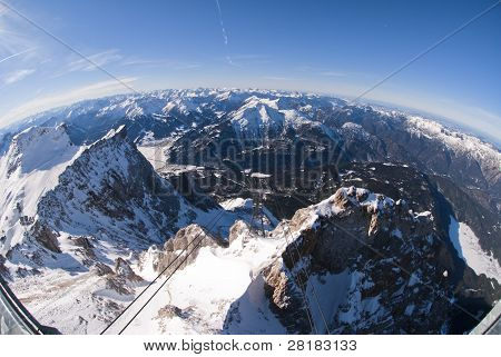 The zugspitze panoramic view