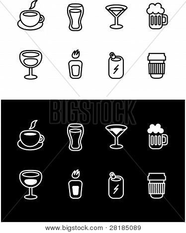 Drinks icon variations