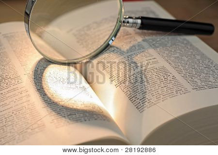 Heart Shadow With Magnifying Glass