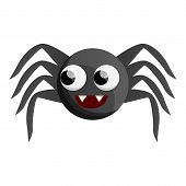 Cute Spider Icon. Cartoon Of Cute Spider Vector Icon For Web Design Isolated On White Background poster