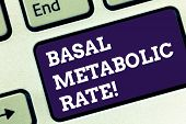 Handwriting Text Basal Metabolic Rate. Concept Meaning Minimum Energy Level Require To Sustain Vital poster