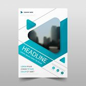 Blue Vector Annual Report Leaflet Brochure Flyer Template Design, Book Cover Layout Design, Abstract poster