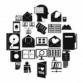 Folder Icons Set. Simple Set Of 25 Folder Icons For Web Isolated On White Background poster