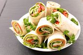 sandwich wrap with vegetable poster