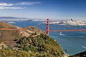 San Francisco Panorama W The Golden Gate Bridge poster