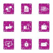 Excellent Solution Icons Set. Grunge Set Of 9 Excellent Solution Icons For Web Isolated On White Bac poster