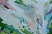 Abstract Background Oil Painting, Hand-painted Texture, Splashes, Drops Of Paint, Paint Smears. poster