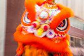 Постер Движения размыты традиционный китайский дракон