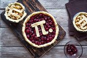 Pi Day Cherry And Apple Pies poster