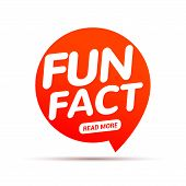 Fun Fact Typography Bubble. Did You Know Knowledge Design Text Message Phrase Information. poster