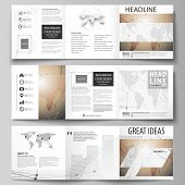 The Minimalistic Vector Illustration Of The Editable Layout. Three Creative Covers Design Templates  poster