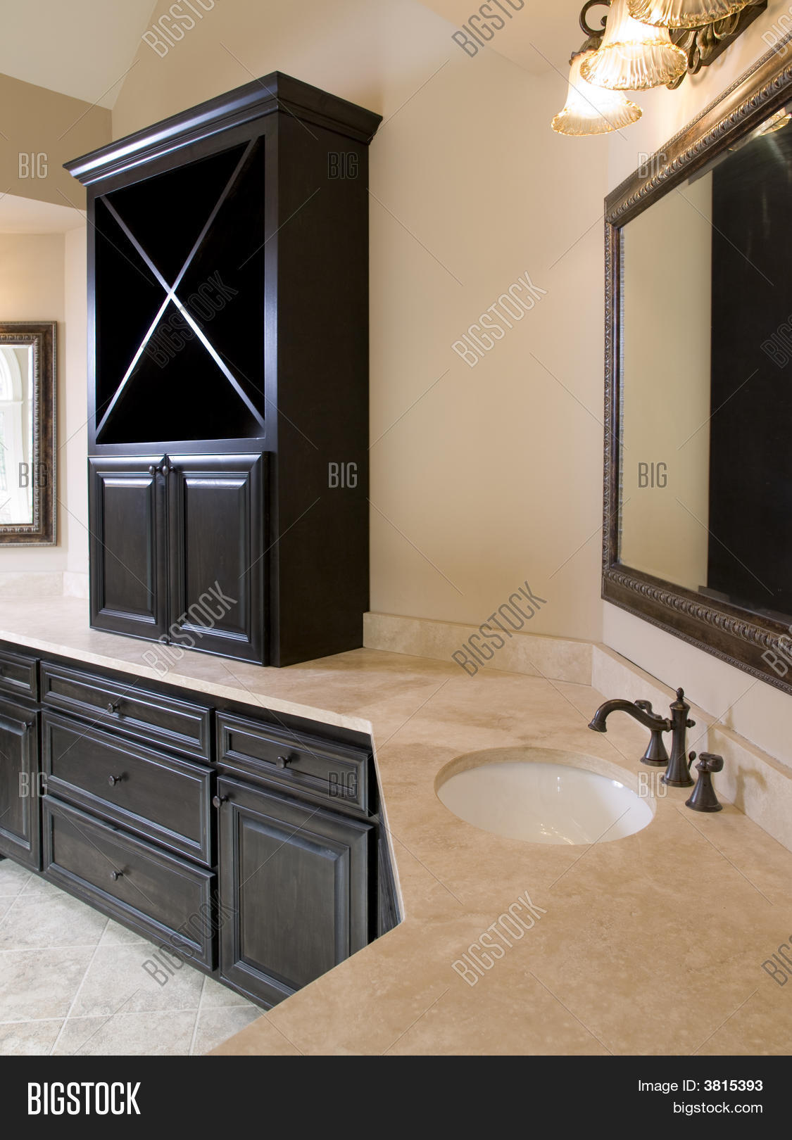 luxury bathroom cabinets uk luxury bathroom with cabinet on counter stock photo 19362