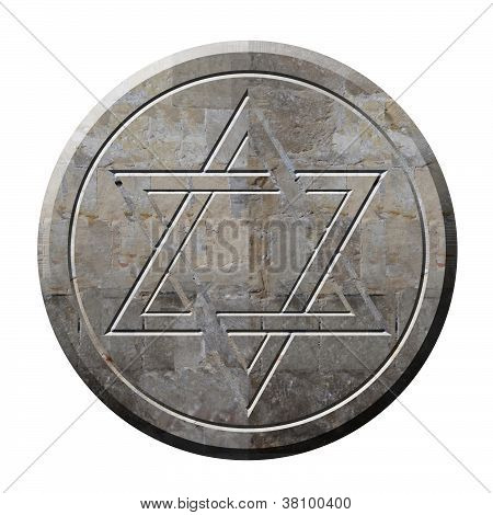 Star Of David Symbol In Stone