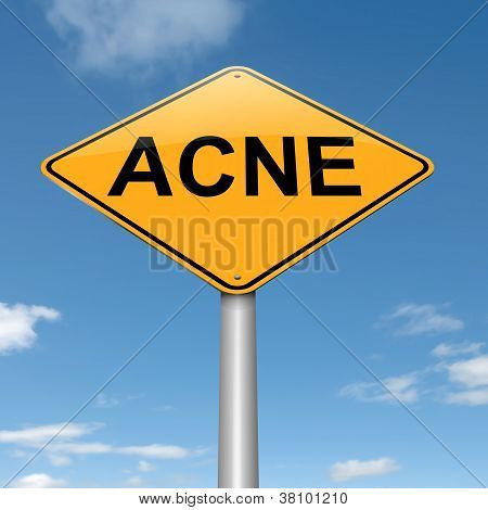 Acne Concept.
