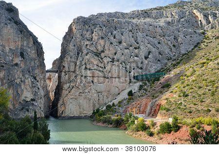 Gorge Of The Gaitanes Near El Chorro