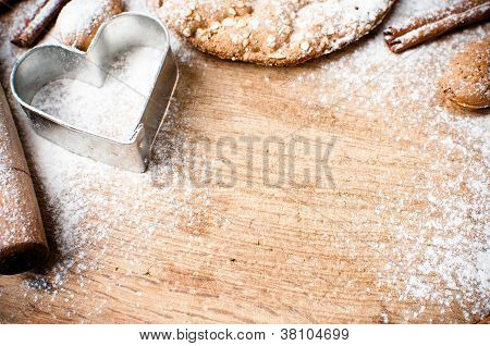 Christmas And Holiday Baking Background