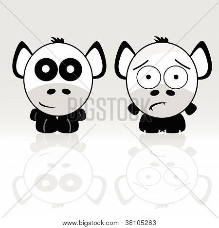 Sweet And Cute Animal Icon Vector
