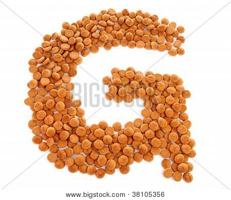 Ginger Nuts, Pepernoten, In The Shape Of Letter G