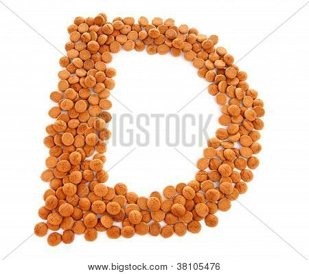 Ginger Nuts, Pepernoten, In The Shape Of Letter D