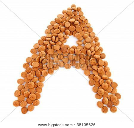 Ginger Nuts, Pepernoten, In The Shape Of Letter A