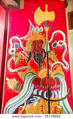 Guan Yu Door Tin Hau Temple,sea Godess, Stanley, Hong Kong