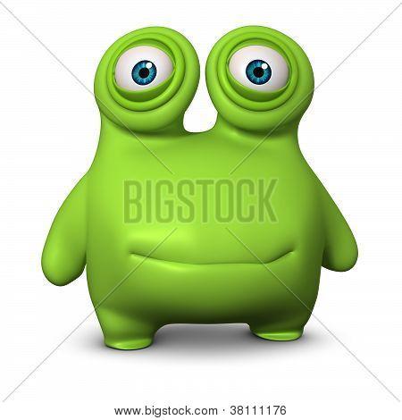 Cute Green Alien