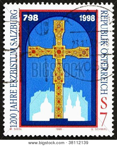 Postage stamp Austria 1998 GoldenCross