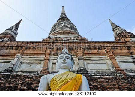 Pagoda And Buddha Statue
