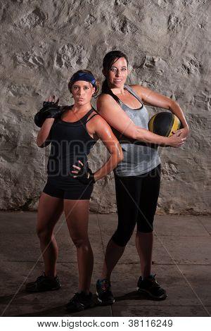 Boot Camp Training Ladies Posing