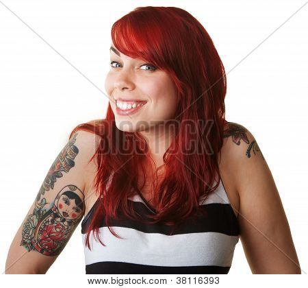Proud Young Woman With Tattoos