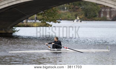 Boston, Ma 10 18 2008 Grand-Master Singles 50+ In Charles Regatta-Racer Tim Storm