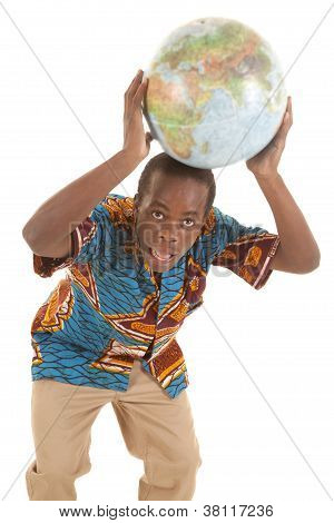 Globe On Head Surprised