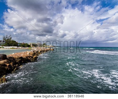 Caribbean Sea At Runaway Bay, Jamaica