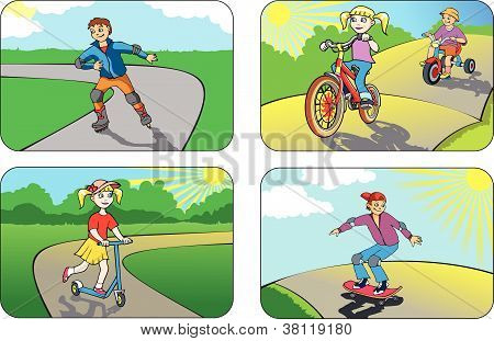 Children on wheels