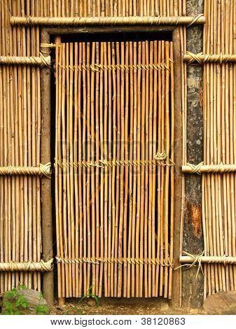 Simple Bamboo Door