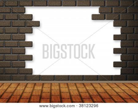 Interior With Broken Wall