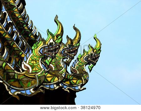 roof and gable of thai temple