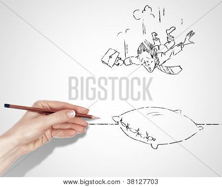 Drawing about risk in business