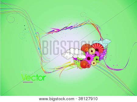 clean flower vector