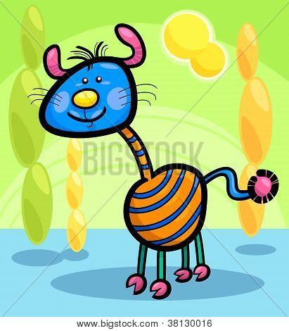Criatura de fantasia engraçada dos desenhos animados