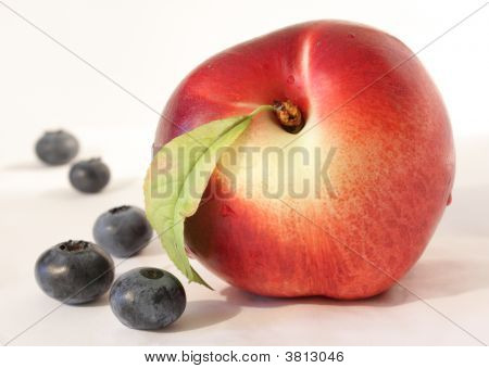 Peach & Blueberries