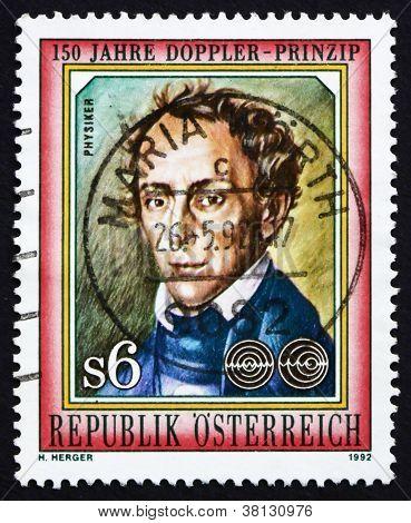 Postage stamp Austria 1992 Johan Doppler, Physicist, Scientist