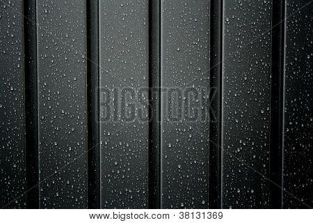 Black Metal Profile With Rain Drops