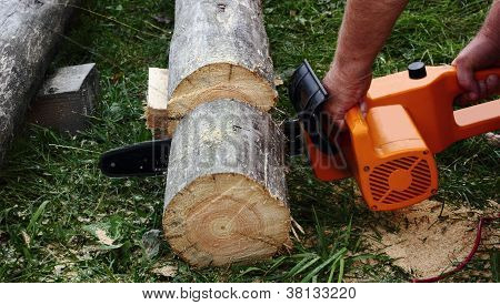Chainsaw In The Hands