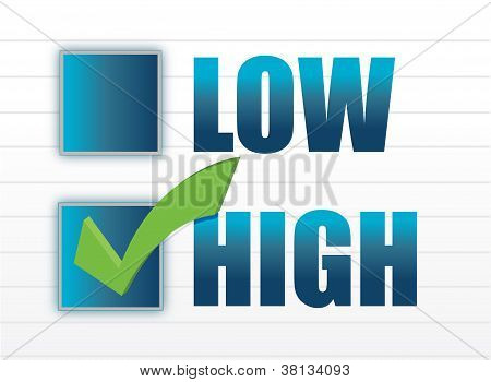 Chose Between Low And High
