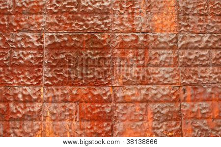 Rusty metal texture as background
