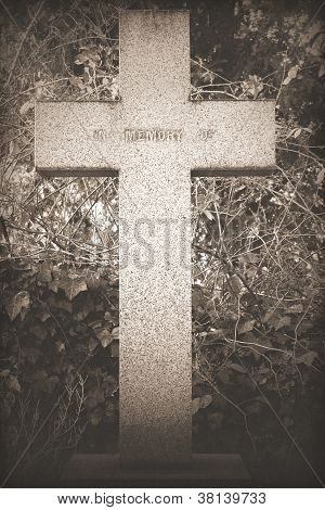 Vintage Cross Headstone