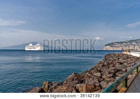 Cruise Ship In Sorrento
