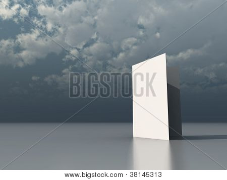 Blank  White Card