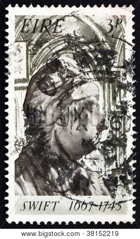 Postage stamp Ireland 1967 Jonathan Swift's Bust